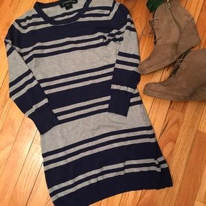 FRENCH CONNECTION: 3/4 Sleeve Striped Sweater